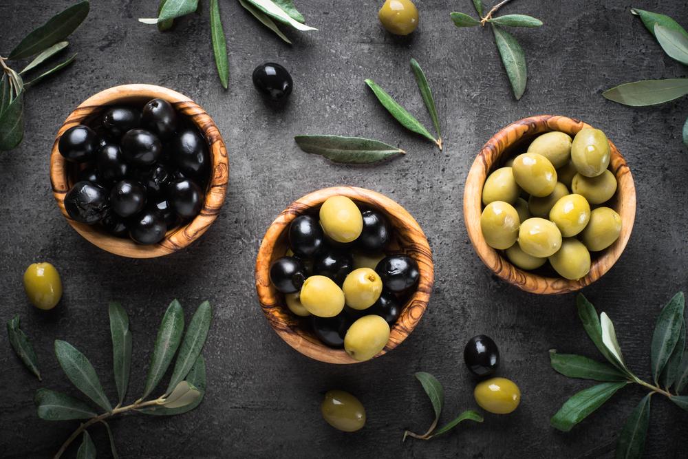 olive verte et noir