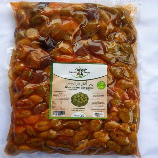 Olive naturel aux epices 1
